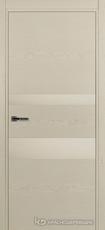 Дверь Краснодеревщик 703 (стекло белое) с фурнитурой, натуральный шпон Эмаль жемчужная