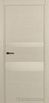 Дверь Краснодеревщик 7 03 (стекло белое) с фурнитурой, Эмаль жемчужная натуральный шпон