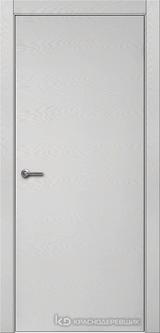 Дверь Краснодеревщик 7 00 с фурнитурой, Эмаль светло-серая натуральный шпон