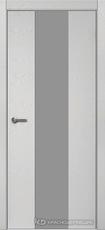 Дверь Краснодеревщик 704 (стекло серое) с фурнитурой, натуральный шпон Эмаль светло-серая