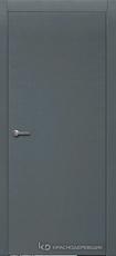 Дверь Краснодеревщик 700 с фурнитурой, натуральный шпон Эмаль серая