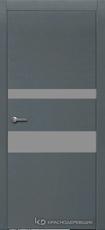 Дверь Краснодеревщик 703 (стекло серое) с фурнитурой, натуральный шпон Эмаль серая