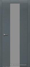Дверь Краснодеревщик 704 (стекло серое) с фурнитурой, натуральный шпон Эмаль серая