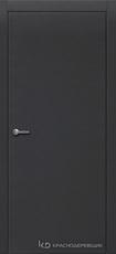 Дверь Краснодеревщик 700 с фурнитурой, натуральный шпон Эмаль черная