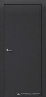 Дверь Краснодеревщик 7 00 с фурнитурой, Эмаль черная натуральный шпон
