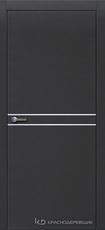 Дверь Краснодеревщик 706 (молдинг) с фурнитурой, натуральный шпон Эмаль черная