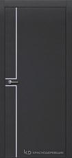 Дверь Краснодеревщик 707 (молдинг) с фурнитурой, натуральный шпон Эмаль черная