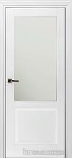 Дверь Краснодеревщик 732.1 (стекло матовое) с фурнитурой, MDF Эмаль белая