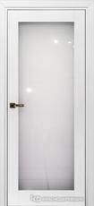 Дверь Краснодеревщик 739 (стекло триплекс) с фурнитурой, MDF Эмаль белая