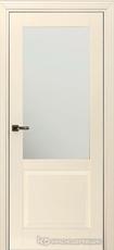 Дверь Краснодеревщик 732.1 (стекло матовое) с фурнитурой, MDF Эмаль жемчужная