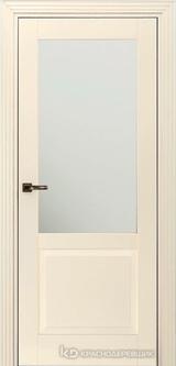 Дверь Краснодеревщик 73 2.1 (стекло матовое) с фурнитурой, Эмаль жемчужная MDF
