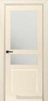 Дверь Краснодеревщик 73 3.1 (стекло матовое) с фурнитурой, Эмаль жемчужная MDF
