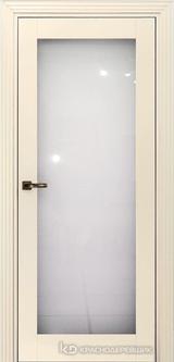 Дверь Краснодеревщик 73 9 (стекло триплекс) с фурнитурой, Эмаль жемчужная MDF
