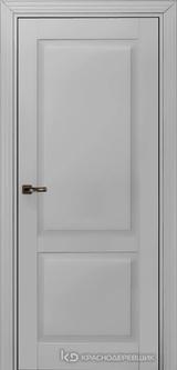 Дверь Краснодеревщик 73 2 с фурнитурой, Эмаль светло-серая MDF