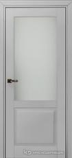 Дверь Краснодеревщик 732.1 (стекло матовое) с фурнитурой, MDF Эмаль светло-серая