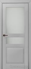 Дверь Краснодеревщик 733.1 (стекло матовое) с фурнитурой, MDF Эмаль светло-серая