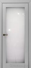 Дверь Краснодеревщик 739 (стекло триплекс) с фурнитурой, MDF Эмаль светло-серая