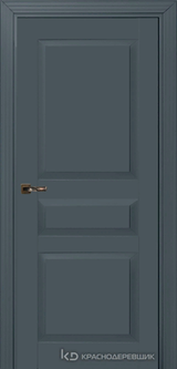 Дверь Краснодеревщик 73 3 с фурнитурой, Эмаль серая MDF