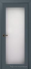 Дверь Краснодеревщик 739 (стекло триплекс) с фурнитурой, MDF Эмаль серая
