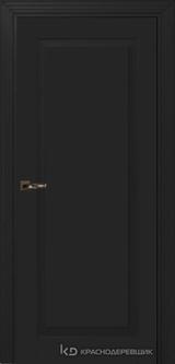 Дверь Краснодеревщик 73 1 с фурнитурой, Эмаль черная MDF