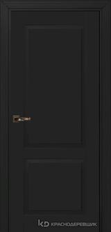 Дверь Краснодеревщик 73 2 с фурнитурой, Эмаль черная MDF