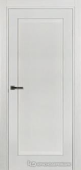 Дверь Краснодеревщик 74 1 с фурнитурой, Эмаль белая натуральный шпон