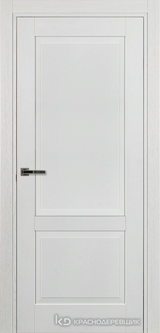 Дверь Краснодеревщик 74 2 с фурнитурой, Эмаль белая натуральный шпон