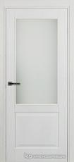Дверь Краснодеревщик 742.1 (со стеклом) с фурнитурой, натуральный шпон Эмаль белая