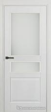 Дверь Краснодеревщик 743.1 (со стеклом) с фурнитурой, натуральный шпон Эмаль белая