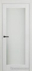 Дверь Краснодеревщик 749 (со стеклом) с фурнитурой, натуральный шпон Эмаль белая