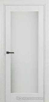 Дверь Краснодеревщик 74 9 (со стеклом) с фурнитурой, Эмаль белая натуральный шпон