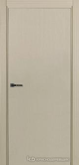 Дверь Краснодеревщик 74 0 с фурнитурой, Эмаль жемчужная натуральный шпон