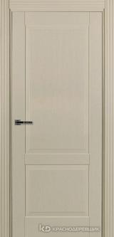 Дверь Краснодеревщик 74 2 с фурнитурой, Эмаль жемчужная натуральный шпон