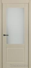 Дверь Краснодеревщик 742.1 (со стеклом) с фурнитурой, натуральный шпон Эмаль жемчужная