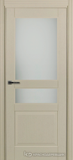 Дверь Краснодеревщик 743.1 (со стеклом) с фурнитурой, натуральный шпон Эмаль жемчужная