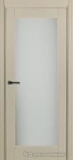 Дверь Краснодеревщик 749 (со стеклом) с фурнитурой, натуральный шпон Эмаль жемчужная