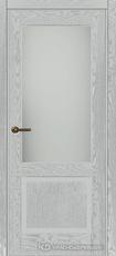 Дверь Краснодеревщик 742.1 (со стеклом) с фурнитурой, натуральный шпон Эмаль светло-серая
