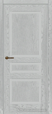 Дверь Краснодеревщик 743 с фурнитурой, натуральный шпон Эмаль светло-серая