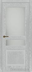 Дверь Краснодеревщик 743.1 (со стеклом) с фурнитурой, натуральный шпон Эмаль светло-серая