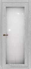 Дверь Краснодеревщик 749 (со стеклом) с фурнитурой, натуральный шпон Эмаль светло-серая