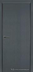Дверь Краснодеревщик 740 с фурнитурой, натуральный шпон Эмаль серая