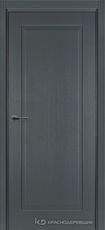 Дверь Краснодеревщик 741 с фурнитурой, натуральный шпон Эмаль серая