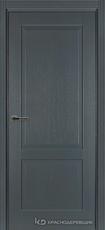 Дверь Краснодеревщик 742 с фурнитурой, натуральный шпон Эмаль серая
