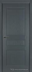 Дверь Краснодеревщик 743 с фурнитурой, натуральный шпон Эмаль серая