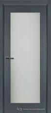 Дверь Краснодеревщик 749 (со стеклом) с фурнитурой, натуральный шпон Эмаль серая