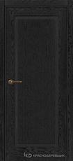 Дверь Краснодеревщик 741 с фурнитурой, натуральный шпон Эмаль черная