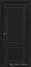 Дверь Краснодеревщик 742 с фурнитурой, натуральный шпон Эмаль черная