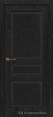 Дверь Краснодеревщик 743 с фурнитурой, натуральный шпон Эмаль черная